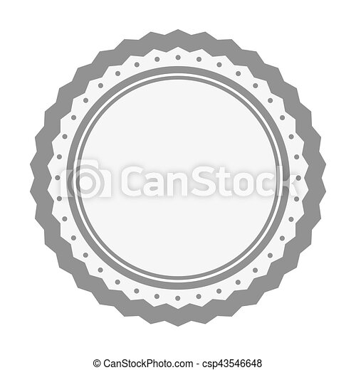 image, vide, emblème, icône - csp43546648