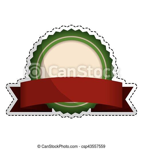 image, vide, emblème, rond, icône - csp43557559