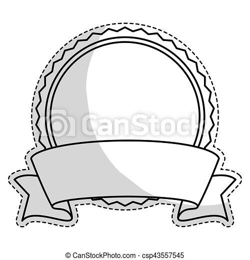 image, vide, emblème, rond, icône - csp43557545