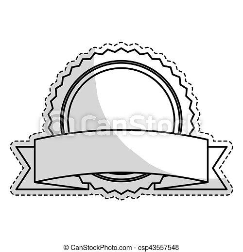 image, vide, emblème, rond, icône - csp43557548