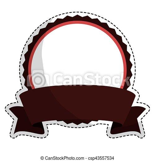 image, vide, emblème, rond, icône - csp43557534