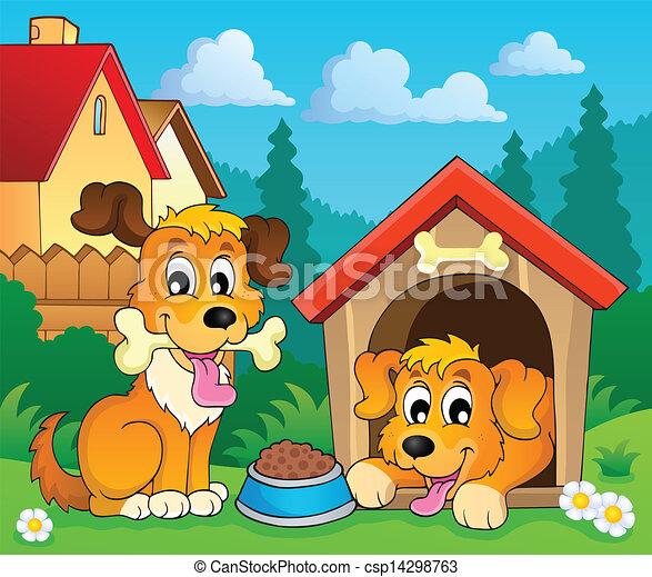 Image with dog theme 3 - csp14298763