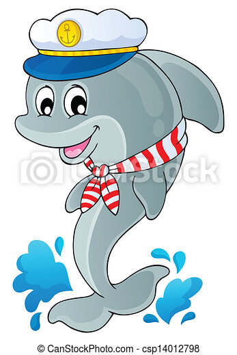 Image with dolphin theme 1 - csp14012798