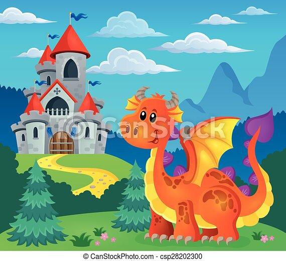 Image with happy dragon theme 5 - csp28202300