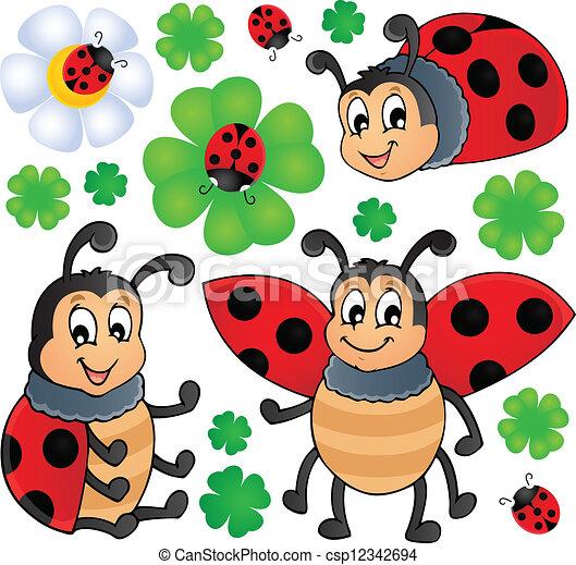 Image with ladybug theme 1 - csp12342694