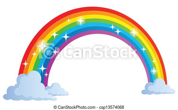 Image with rainbow theme 1 - csp13574068