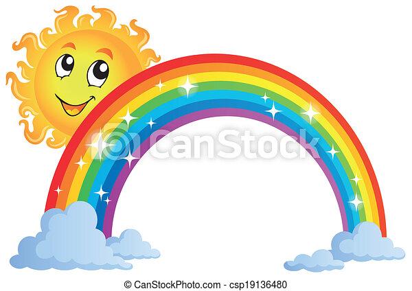 Image with rainbow theme 8 - csp19136480
