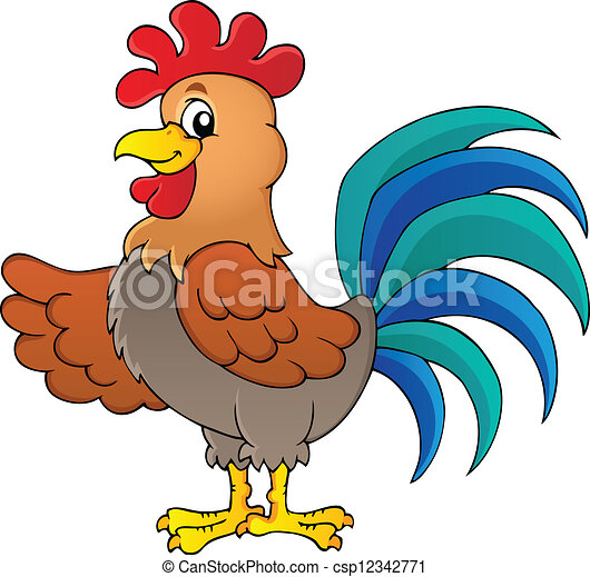 image with rooster theme 1 vector illustration rh canstockphoto com rooster clip art cartoon free rooster clip art free pictures