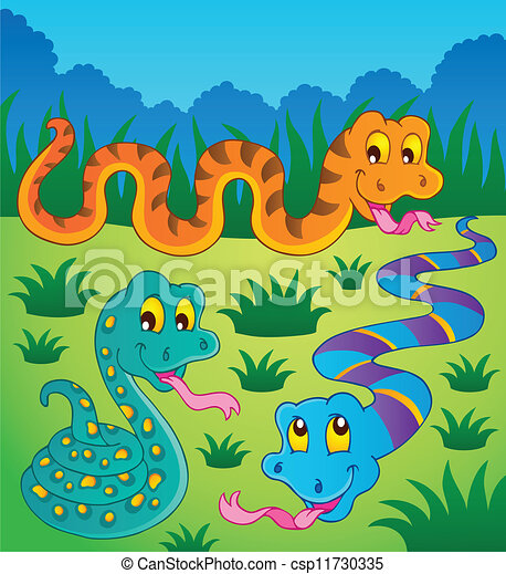 Image with snake theme 1 - csp11730335