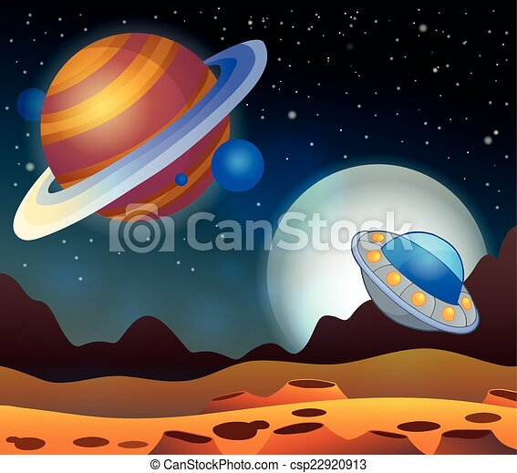 Image with space theme 2 - csp22920913