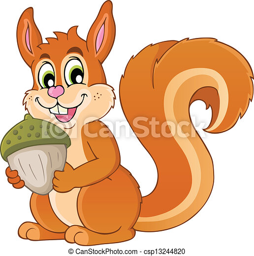 Image with squirrel theme 1 - csp13244820