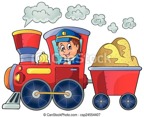 Image with train theme 2 - csp24554407