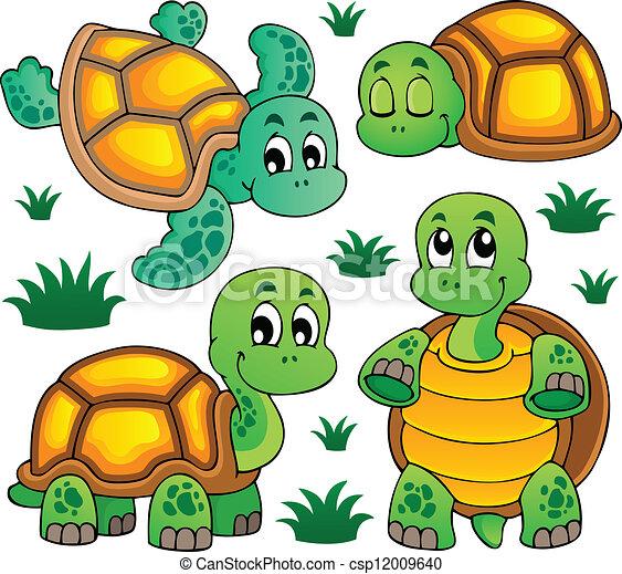 Image with turtle theme 1 - csp12009640