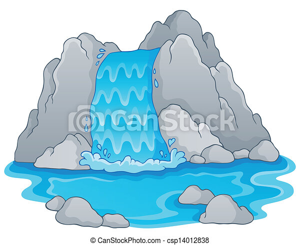 Image with waterfall theme 1 - csp14012838