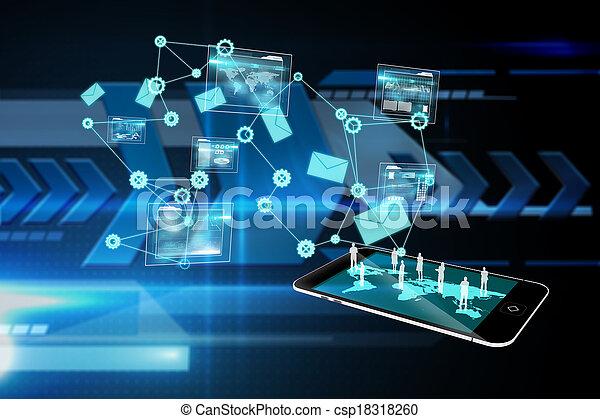 imagem composta, análise, fundo, interface, dados - csp18318260