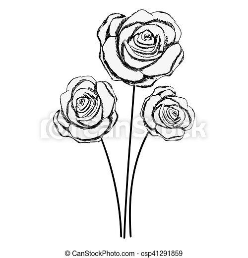 Imagem Flor Delicado Desenho Icone Flor Rosa Imagem