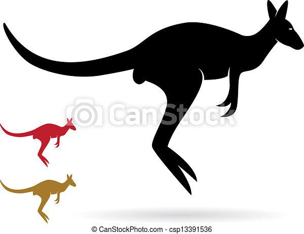 imagem, vetorial, canguru - csp13391536