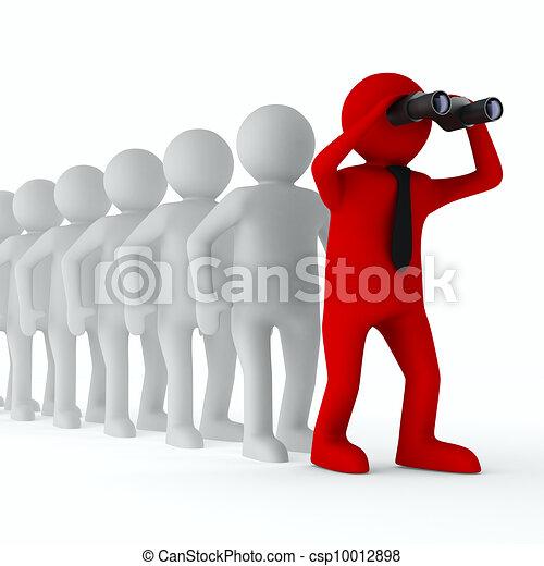 Imagen de liderazgo. Aislado 3D en blanco - csp10012898