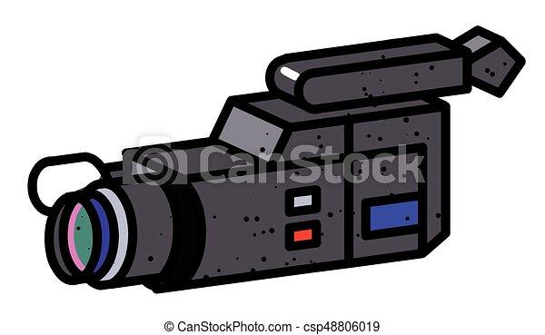 Imagen De Dibujos Animados De La Cámara De Vídeo El Símbolo
