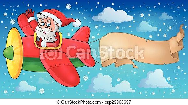 Santa Claus en el plano imagen 5 - csp23368637