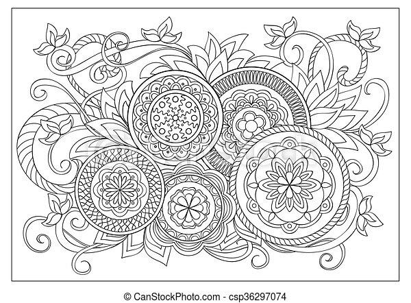 imagen, colorido, adulto, página - csp36297074