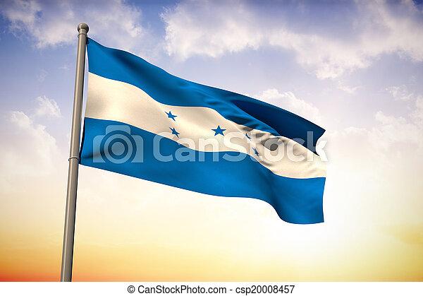 imagen compuesta, bandera honduras, nacional - csp20008457