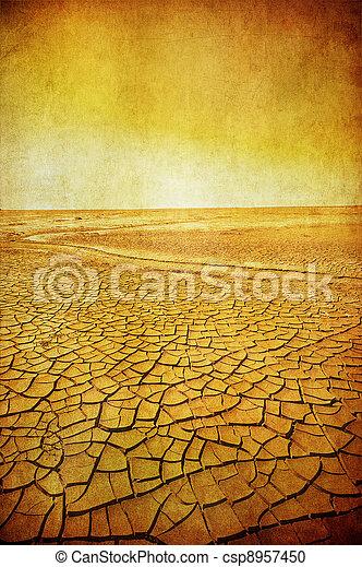imagen, grunge, paisaje del desierto - csp8957450