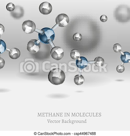 Resultado de imagen de moleculas de metano