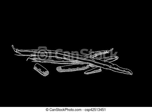 Foto negra de guisantes - csp42513451