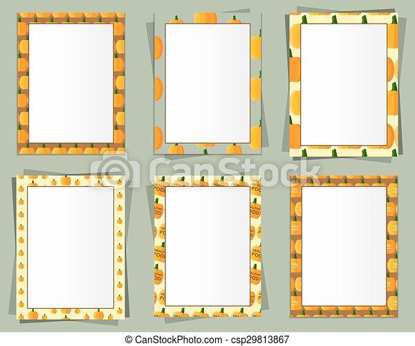 Imagen, orgánico, formato, eco, marco, texto, papel, a3,... vector ...