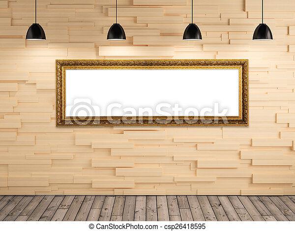 Imagen, pared, marco de la foto, madera, exposición, plano ...