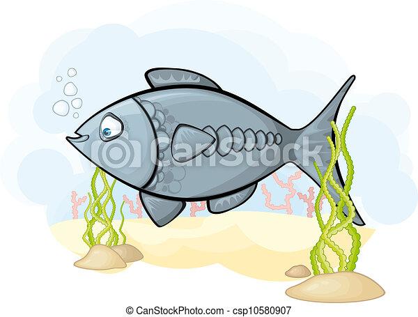 La imagen del pez en el mar - csp10580907