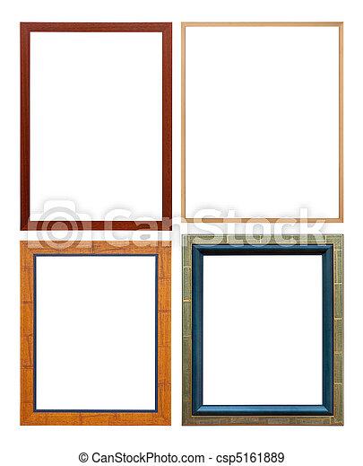 Un marco de madera de color, aislado con un camino de recortes - csp5161889