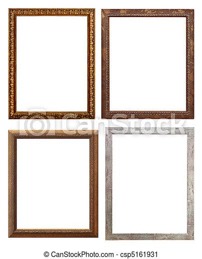 Un cuadro de madera, aislado con un camino de recortes - csp5161931