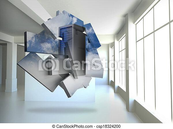 Imágenes de servidor en pantalla abstracta - csp18324200