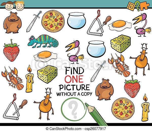 imagen, solo, juego, caricatura, hallazgo - csp26077917