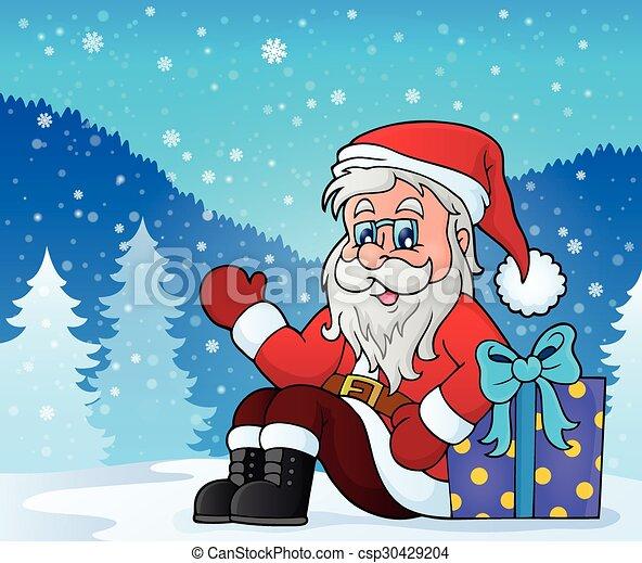 La imagen de Santa Claus - csp30429204