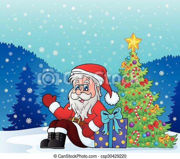 La imagen de Santa Claus - csp30429220