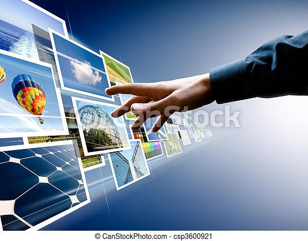 imagens, escolher, fluxo - csp3600921