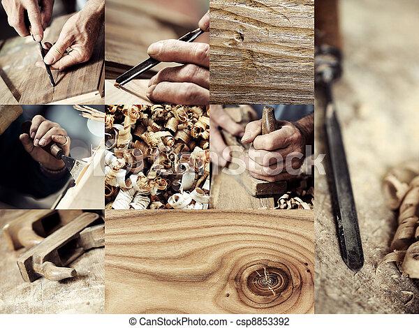imagens, madeira, carpinteiro, cobrança - csp8853392