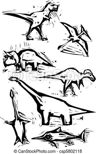 images, dinosaure, tache - csp5802118