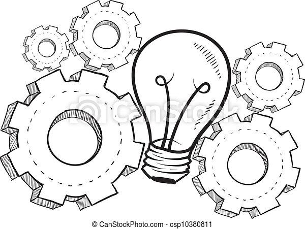 Dibujo de metáfora de la imaginación - csp10380811