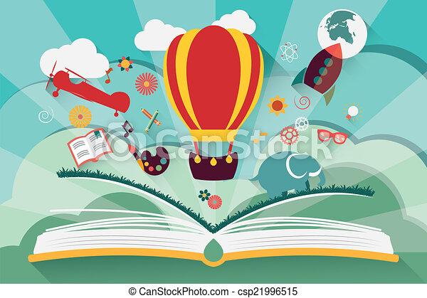 El concepto de imaginación: libro abierto - csp21996515