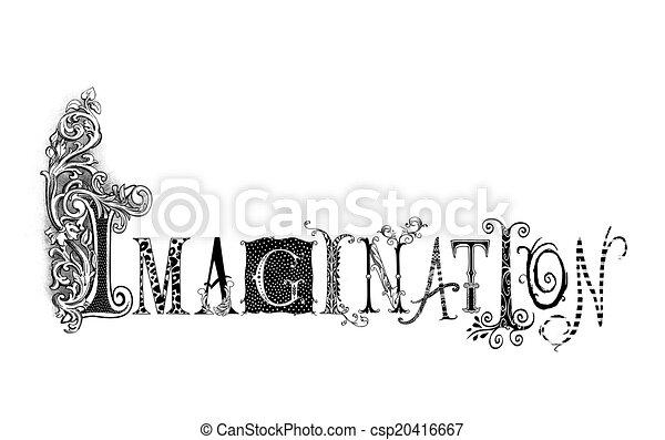 Ilustración de tipografía imaginaria - csp20416667