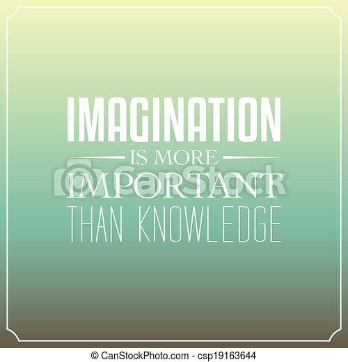 knowledge quotes eps vector of imagination is more important than knowledge quotes