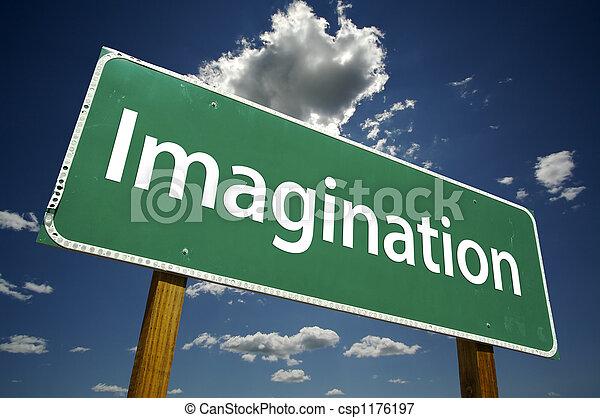 Imagination Road Sign - csp1176197