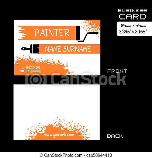 Creative design of imaginative painter visit card vector clip art imaginative painter visit card csp50644413 reheart Gallery