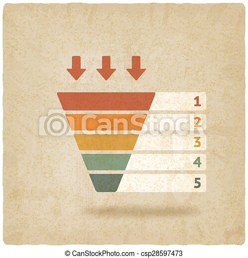 Imbuto Vecchio Colorare Marketing Simbolo Fondo 10 Imbuto