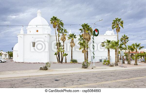 Immaculate Conception Church, Ajo, Arizona, USA - csp5084893