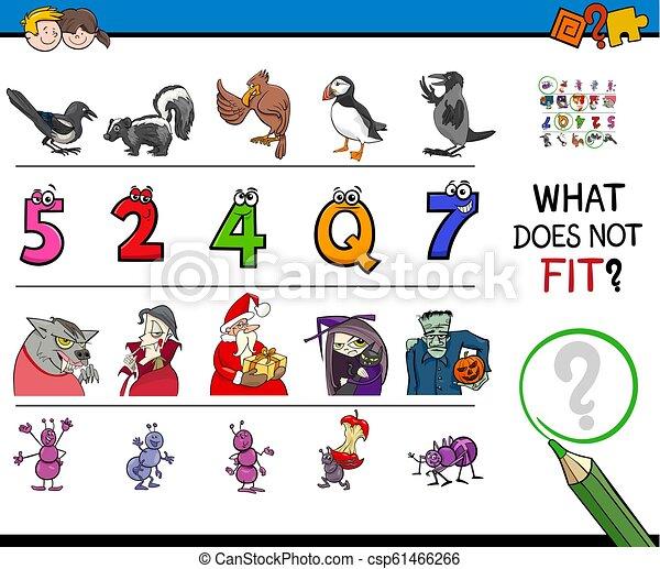 immagine, educativo, gioco, mismatched, trovare, fila - csp61466266